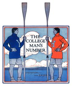 College Man's Number, 1902 by Guernsey Moore Painting Print on Canvas