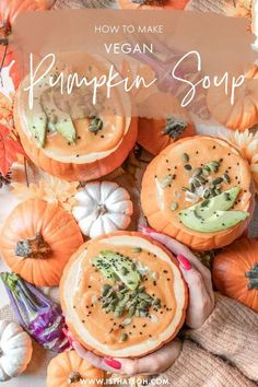 Looking for a perfect Halloween or fall dinner recipe? This vegan pumpkin soup isn't only gorgeous and super Halloween-esque, but it's also healthy, delicious, and your guests will love it! #Halloween