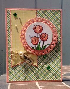 Beautiful Happy B-Day Card, using a S.U Stamp!