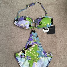 Newport News Swimsuit Pretty blue green and goal design from Newport News - brand new and never worn; still has tags Newport News Swim One Pieces