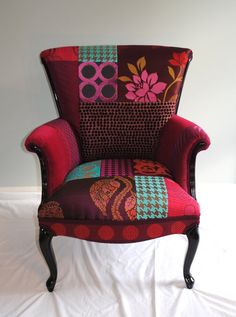 Patchwork Chair on Etsy