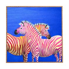 Clara Nilles Diva Zebras On Royal Sapphire Framed Wall Art | DENY Designs Home Accessories