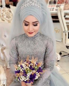 Gonul Muslimah Wedding Dress, Muslim Wedding Dresses, Ceremony Dresses, Muslim Brides, Bridal Hijab, Hijab Bride, Wedding Hijab, Wedding Hats, Beautiful Hijab