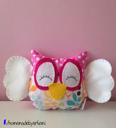 Small Owl Pillow Softie Plush on Etsy