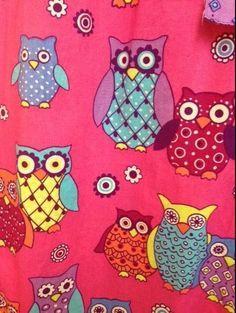 Nick and Nora pajama pants SMALL pink owl blue yellow – pants only #NickNora #LoungePantsSleepShorts