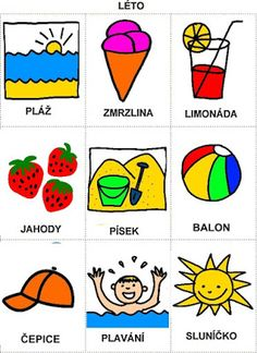 Pro Šíšu: Rocni obdobi - obrazky Summer Crafts, Diy And Crafts, Aurora, Children, Kids, Kindergarten, Playing Cards, Doodles, Language