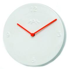 Kähler Ora veggklokke hvit/oransje Ø20 Oras, Clock, Wall, Home Decor, Watch, Decoration Home, Room Decor, Interior Design, Home Interiors