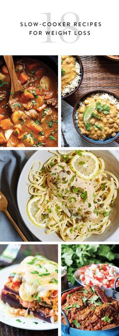 Here are 18 healthy, low-maintenance Crock-Pot meals that practically make themselves. They might even help you lose a few pounds.