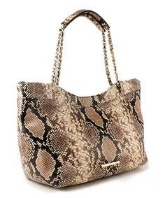 Take a look at this Python Embossed Leather Tamara Tote by Elaine Turner on #zulily today!