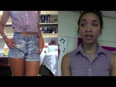 DIY| How to Cut Jeans into Highwaisted Shorts (Fool-proof trick!) - YouTube