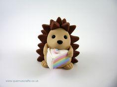 Little Rainbow Cake Hedgehog