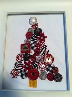 Aggie Christmas Tree... Like the idea but think a glue gun and a canvas board would make it look better....