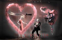 Vitrines Dia dos Namorados Corações e ideias de decoração para o dia dos apaixonados