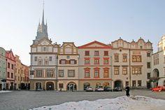 Pernstejn Square with Green Gate, Pardubice, Czech Republic
