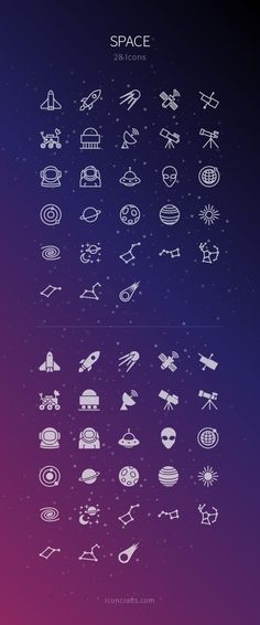 Space is a beautiful place - great icons from Iconcrafts.com