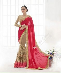 Sarees - Ruby Red And Golden Bridal Collections - Resplendent Bridal Designer Wedding Special Collections / Wedding / Party / Special Occasions / Festival