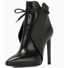 Black Vegan Leather Stiletto Boots Pointy Toe Ankle Booties for Work Schwarze Schnürstiefel Pfenniga Zapatos Shoes, Shoes Heels, Nike Shoes, Shoes Sneakers, 80s Shoes, Footwear Shoes, Shoes Uk, Casual Leather Shoes, Leather Booties