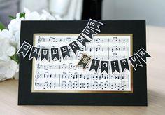 Onnittelukortti ylioppilaalle (musiikkilukio) / Greeting card for graduate