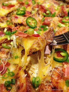I could use a tray or two of these! >> Cheesy Jalapeno Bacon Steak Fries from Allie Taylor