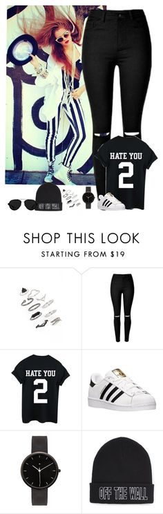 """""""Swag outfits with Mahogany//Dj"""" by these-weird-magcon-fangirls ❤ liked on Polyvore featuring Topshop, adidas, I Love Ugly, Vans and 3.1 Phillip Lim"""
