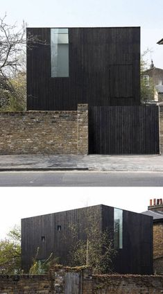 House Exterior Colors – 14 Modern Black Houses From Around The World / Black timber rainscreens conceal where each level of the house sits on the building. Black Architecture, Modern Architecture House, Residential Architecture, Modern House Design, Architecture Details, Victorian Architecture, Black House Exterior, Exterior House Colors, Modern Exterior