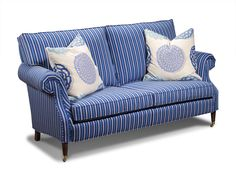 Shop for Harden Furniture Holly Sofa, and other Living Room Two Cushion Sofas at Saxon-Clark Furniture Patio Design in Altamonte Springs, Orlando FLorida. Striped Furniture, Sofa Furniture, Cushions On Sofa, Couch, Throw Pillows, Outdoor Sofa, Outdoor Furniture, Orlando Florida, Patio Design