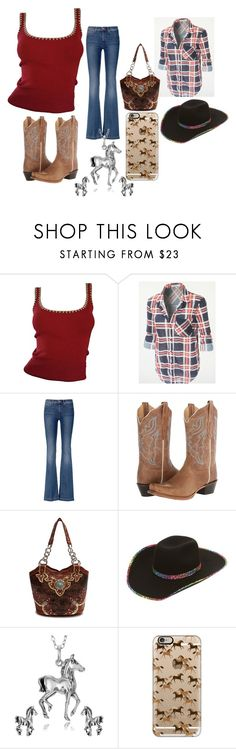 """""""Red Cowgirl"""" by pcgcooper-1 on Polyvore featuring Michael Kors, 7 For All Mankind, Journee Collection and Casetify"""