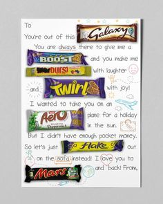 Birthday Presents For Dad, Fathers Day Presents, Dad Birthday, Gifts For Father, Birthday Gifts, Dad Gifts, Birthday Board, Chocolate Bar Card, Chocolate Gifts