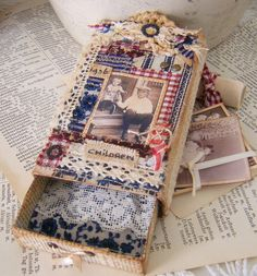 Matchbox inside and goodies by yitte, via Flickr..wow