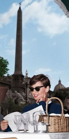 Audrey Hepburn takes a break from War and Peace 1955.