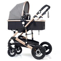 Cynebaby Trio Set Combination Pram Aluminium 3in1 with Carry Cot Dark Grey