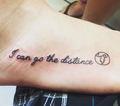 I can go the distance Hercules tattoo