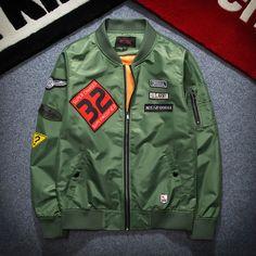 秋季新款MA-1空军徽章刺绣飞行员夹克休闲青年男女工装外套棒球服
