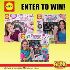 WEEKEND GIVEAWAY! Enter to #win a jewelry prize pack from Alex Toys! There are going to be 3 winners!