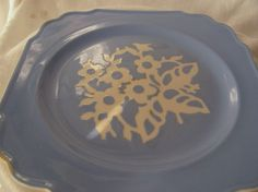 ViNTAGE BLuE CaMEOWARE PLaTE BY HaRKER PoTTERY by AuntSuesVintage, $9.00