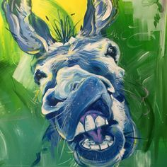 Donkey art by Brandy Wyatt