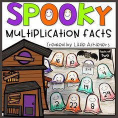 Here is a fun and spooky way to review multiplication facts 2 to 12! This packet includes multiplication facts cut and paste worksheets with a spooky, not actually spooky but cute ghost theme. This packet consists of 22 worksheets and will help students practice and learn multiplication facts in a fun and engaging way. You may also be interested in my Multiplication BUNDLE. Arrays Worksheets and Activities Skip Counting Bundle 2 Digit Addition and Subtraction Packets 3 Digit Addition and…