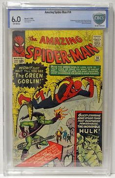 Amazing spider-man 14 cbcs 6.0 1st app #green goblin 1964 #ditko art hulk #x-over,  View more on the LINK: 	http://www.zeppy.io/product/gb/2/152297494431/