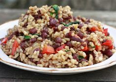 aduki beans and rice with sauteed veggies  gluten and dairy free