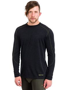 Terramar Mens Thermawool CS Crew  Tall Sizes Smoke Heather XLargeTall >>> You can find out more details at the link of the image.(This is an Amazon affiliate link and I receive a commission for the sales)