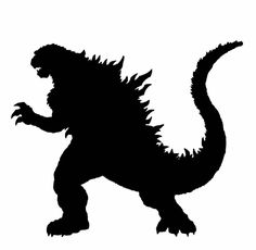 godzilla silhouette vector free clipart best godzilla rh pinterest com gorilla clipart free godzilla clipart black and white