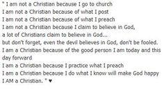 ...I am a Christian because I do what I know will make GOD happy. ♥ I am a Christian †