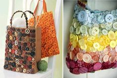 Personalize your bags using buttons