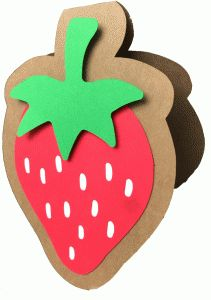 Silhouette Design Store - View Design #81142: strawberry shadow card