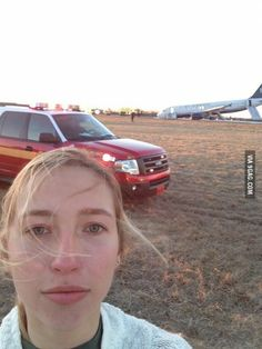 My plane just crashed. But first, let me take a selfie.