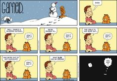 Garfield Cartoon for Feb/16/2014........Shit happens...Ha ha ha