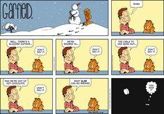 Garfield Cartoon for Feb/16/2014........Shit happens...Ha ha ha