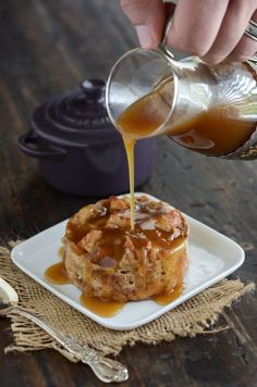 Donut Bread Pudding with Rum Sauce!