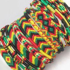 Handmade RASTA Macrame Friendship Bracelet, Anklet, Choker - 30 Styles