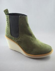 Wanda Stieflette, Olive - GOOD GUYS don`t wear leather - vegan Shoe